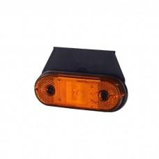 Pozicijska luč LED LD624 - Rumena 12V/24V, z nosilcem, kabel