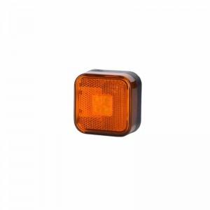 Pozicijska luč LED LD097 - Rumena 12V/24V / Kabel, Vijaki
