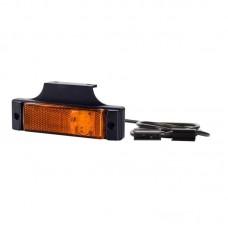 Pozicijska luč LED LD128 - Rumena 12V/24V / Kabel 1,5m