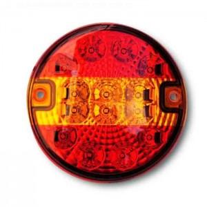 Zadnja luč LED - okrogla, 3-funkcijska (smerokaz) / 9-33V
