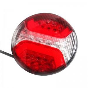 Zadnja luč LED KMR - okrogla, 3-funkcijska (smerokaz) / 12V/24V