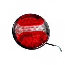 Zadnja luč LED KMR - okrogla, 2-funkcijska (vzvratna) / 12V/24V
