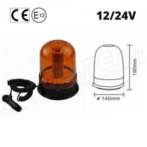 Rotacijska LED luč, Magnetna, 19W, Vodoodporna, 12/24V