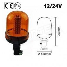 Rotacijska LED luč 14W, Nasadna, Vodoodporna, 12/24V