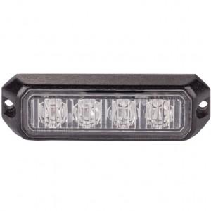 Stroboskopska LED luč, Oranžna 4x1W, 12/24V
