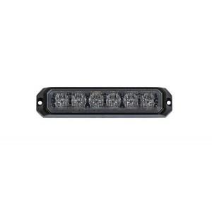 Stroboskopska LED luč, Oranžna 6 LED, 12/24V