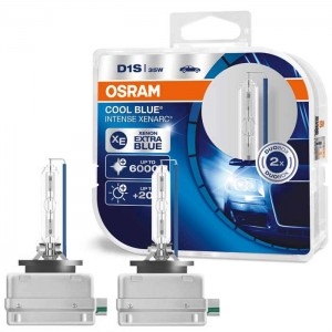 Xenon žarnice D1S 35W OSRAM Xenarc Cool Blue Intense - 66140CBI DUO Pack
