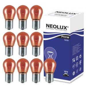 Žarnice PY21W 12V NEOLUX, BaU15s - N581, 10 kos