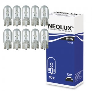 Žarnice W5W 12V 5W - W2,1X9,5D - N501 Neolux, 10kos